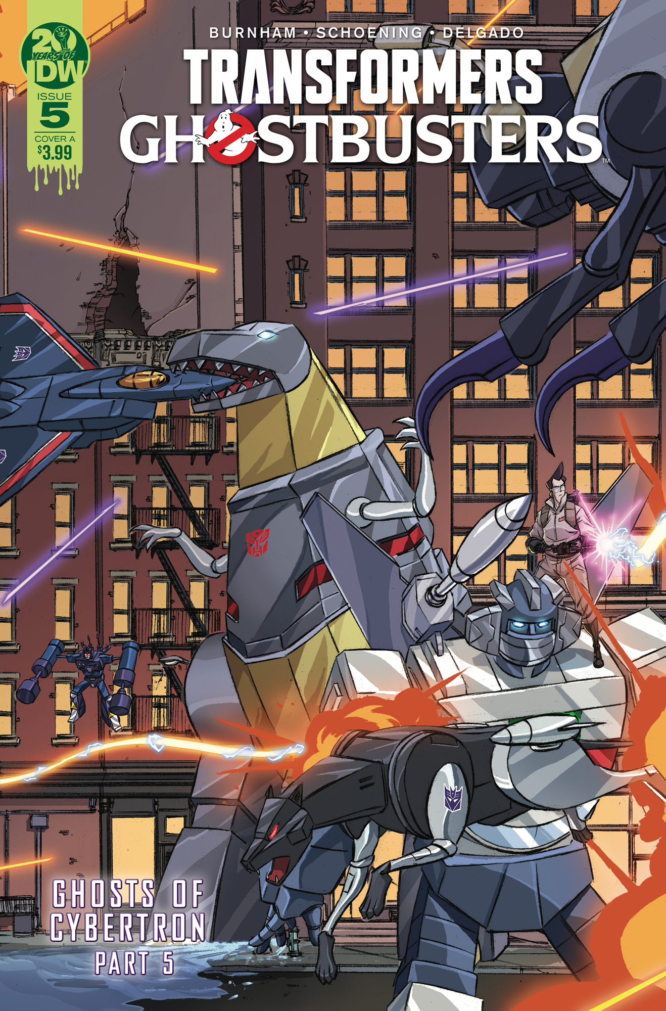 TRANSFORMERS GHOSTBUSTERS #5 (OF 5) CVR A SCHOENING