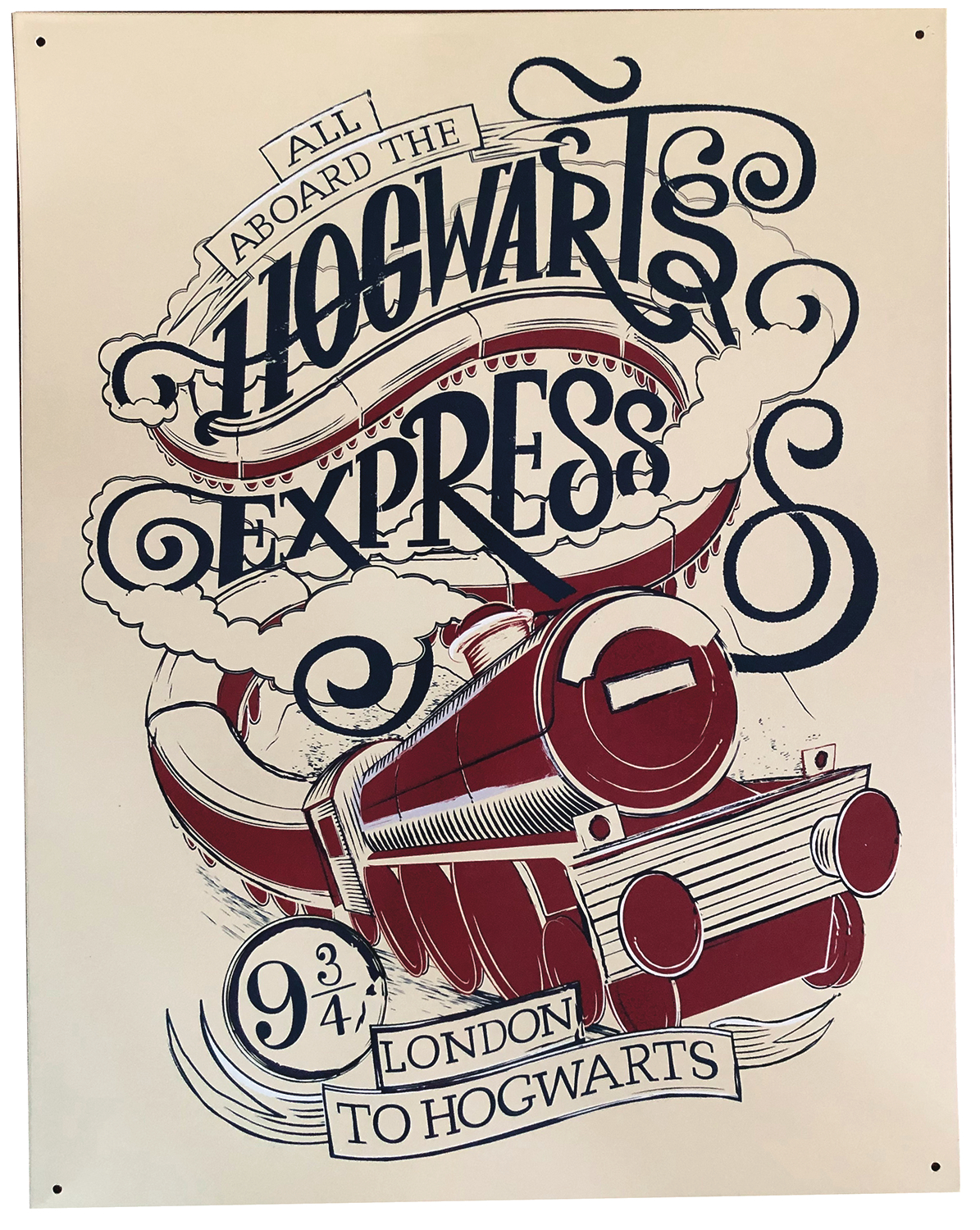HARRY POTTER HOGWARTS EXPRESS 12X16 TIN SIGN