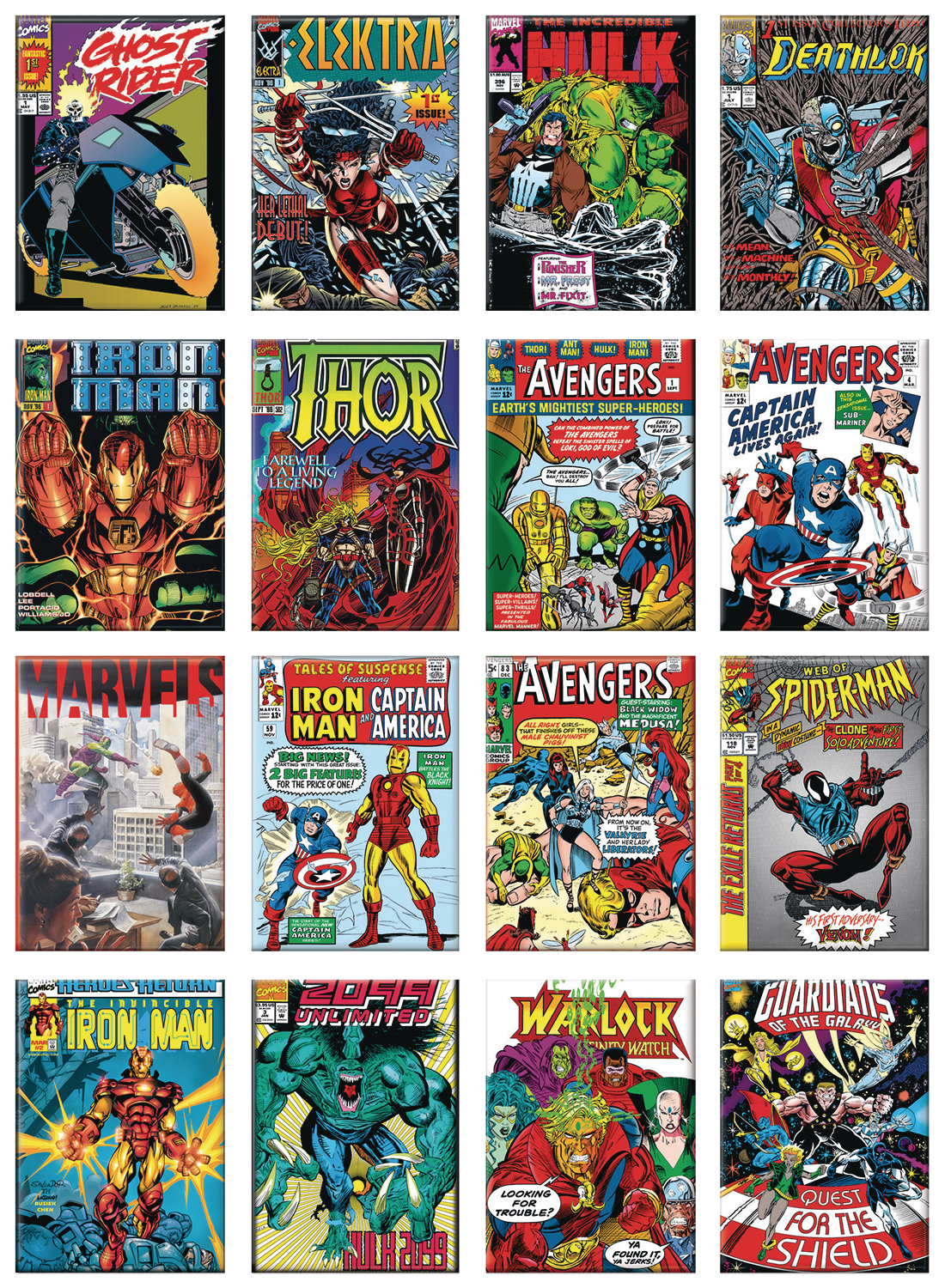 MARVEL 80TH COVERS 48PC MAGNET ASST