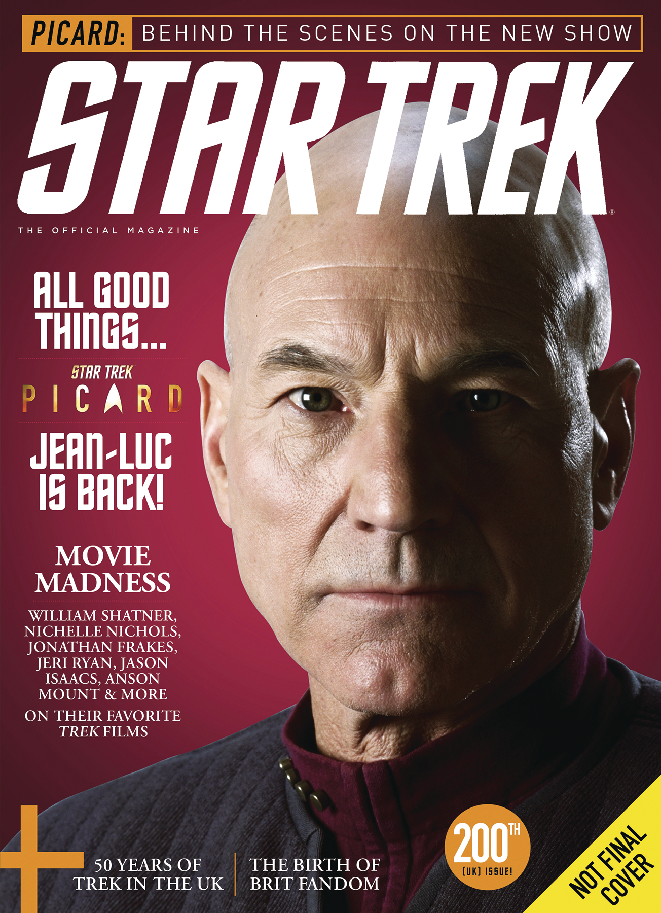 STAR TREK MAGAZINE #73 NEWSSTAND ED