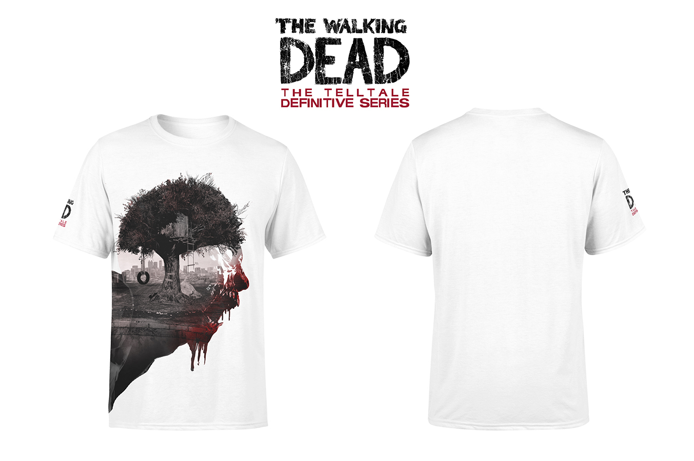 TELLTALE WALKING DEAD WALKER SCREAM T/S MED
