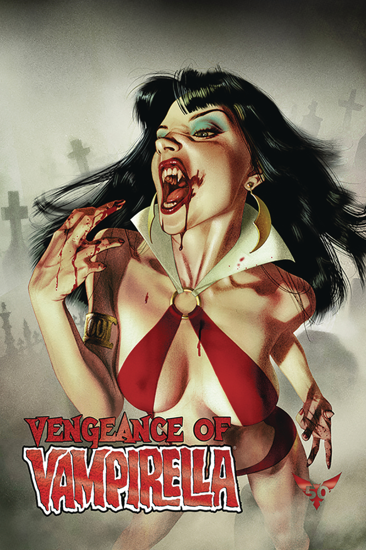VENGEANCE OF VAMPIRELLA #1 MIDDLETON RED FOIL LTD CVR