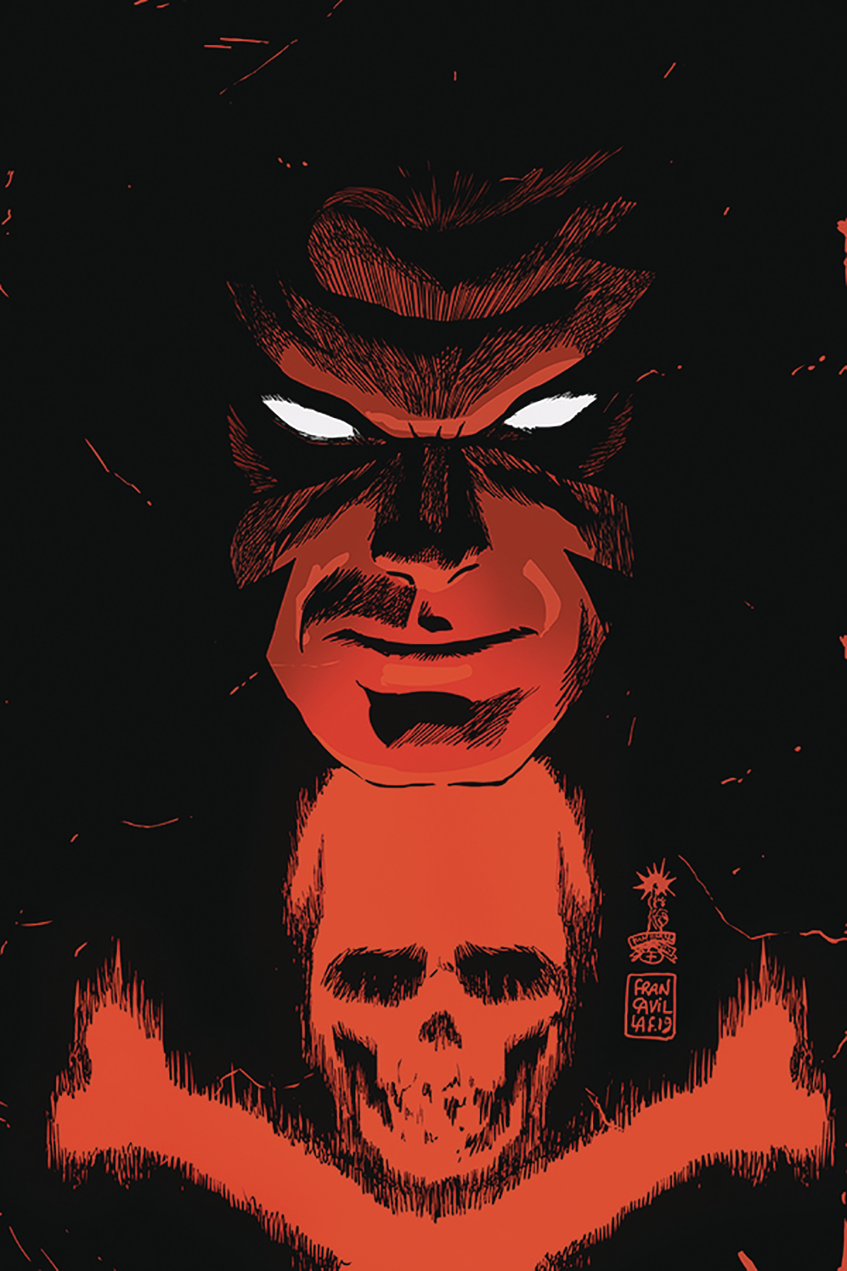 BLACK TERROR #1 FRANCAVILLA LTD VIRGIN CVR