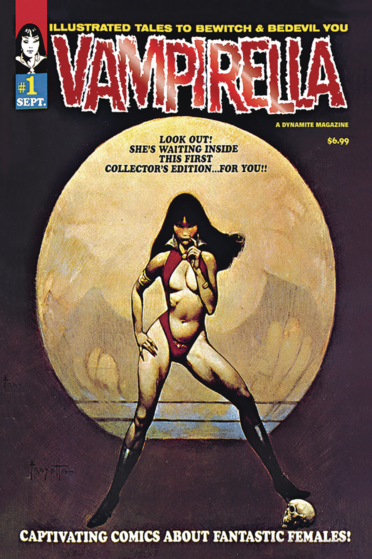 VAMPIRELLA #1 1969 REPLICA ED LTD RED FOIL CVR
