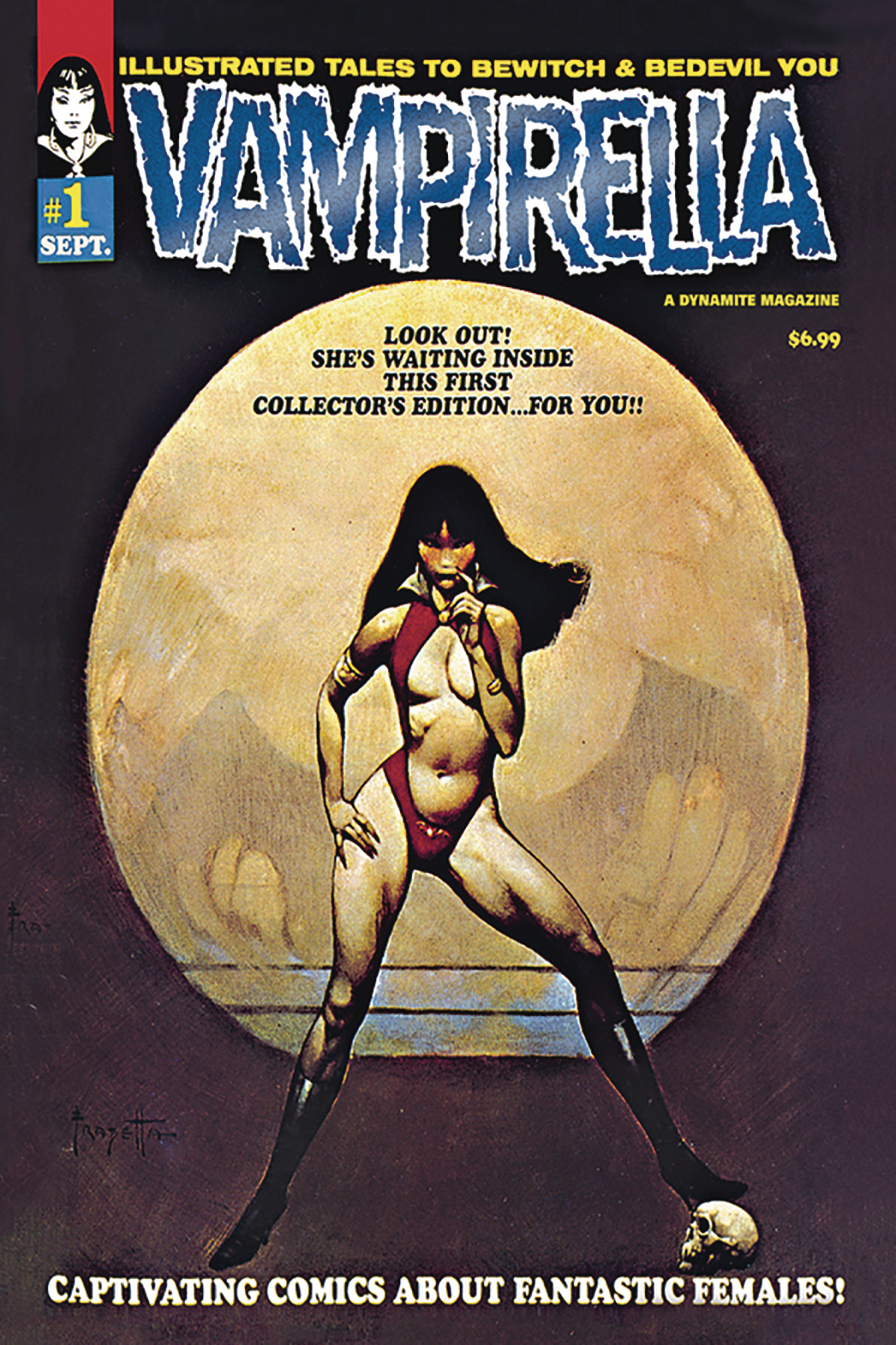 VAMPIRELLA #1 1969 REPLICA ED LTD BLUE FOIL CVR