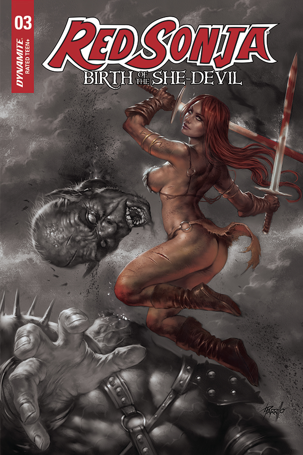 RED SONJA BIRTH OF SHE DEVIL #3 15 COPY PARRILO HUE FOC INCV