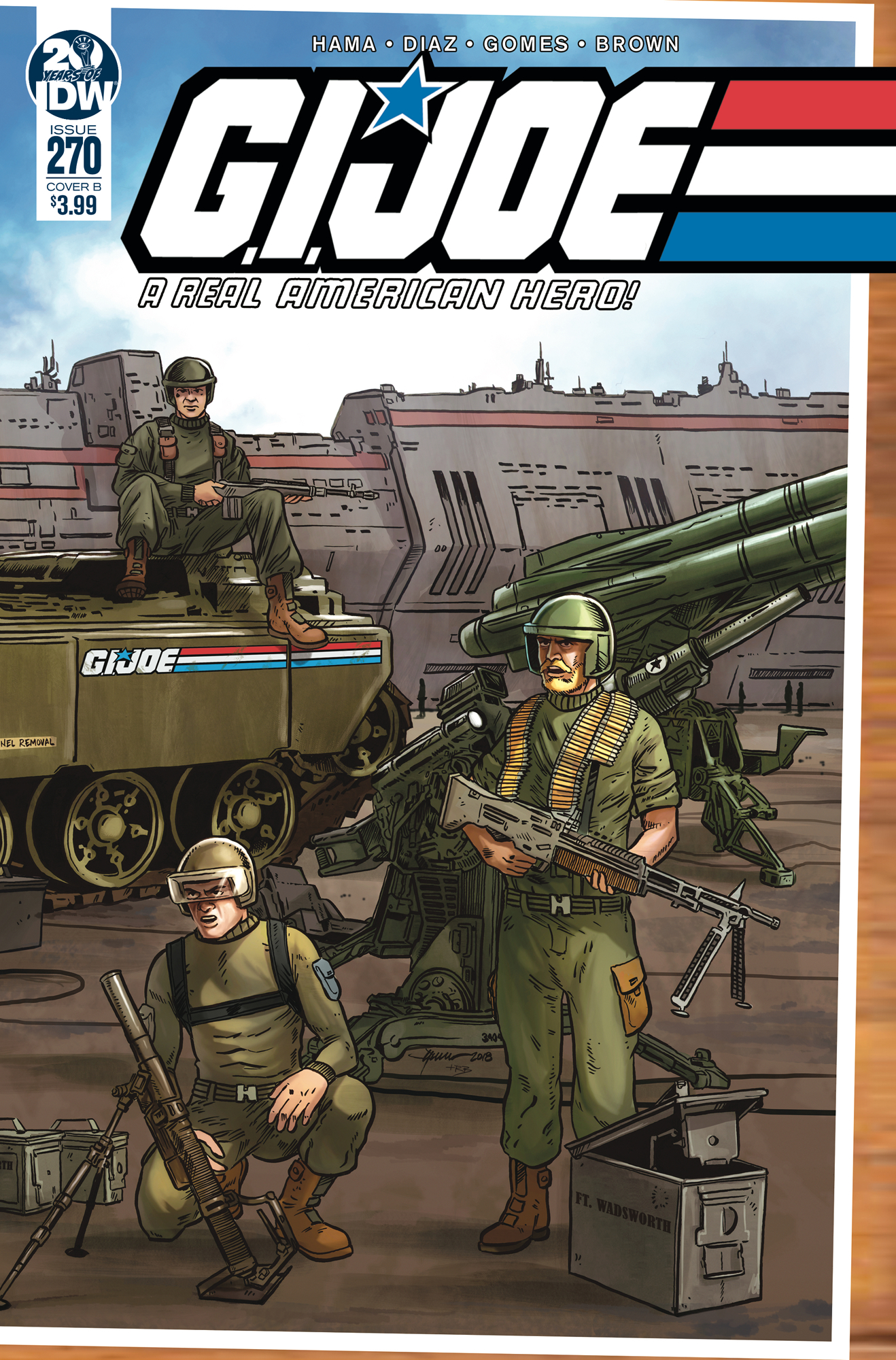GI JOE A REAL AMERICAN HERO #270 CVR B SULLIVAN