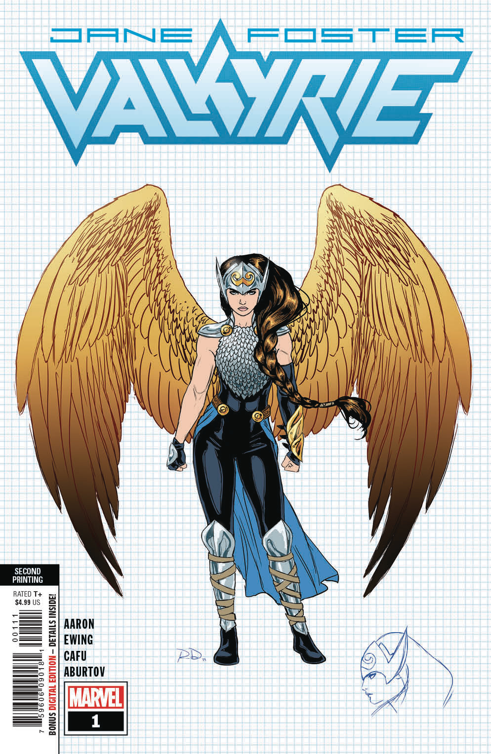 VALKYRIE JANE FOSTER #1 2ND PTG NEW ART DAUTERMAN VAR