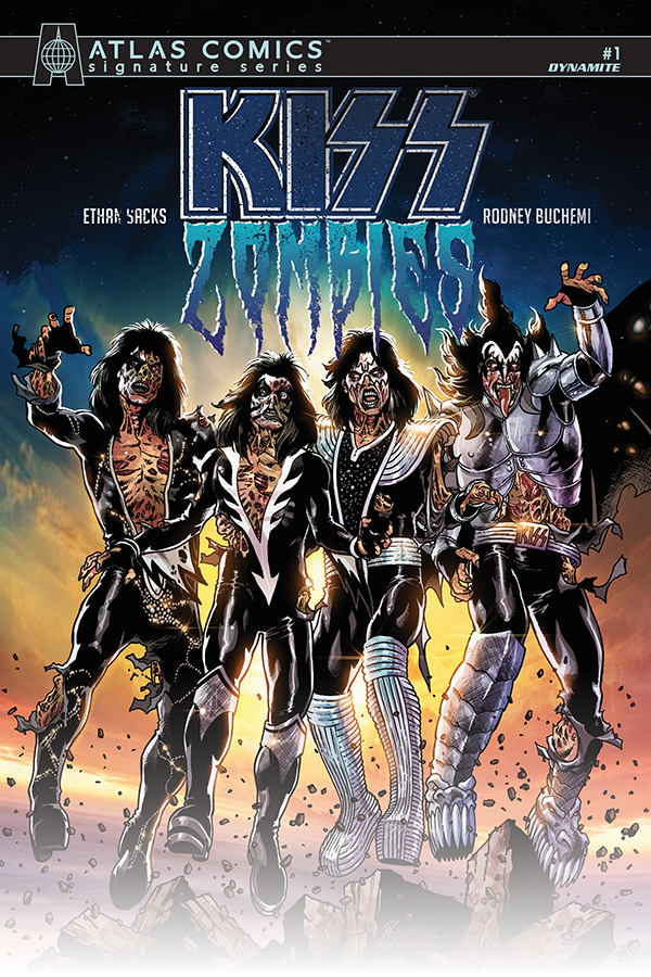 KISS ZOMBIES #1 SACKS SGN ATLAS ED