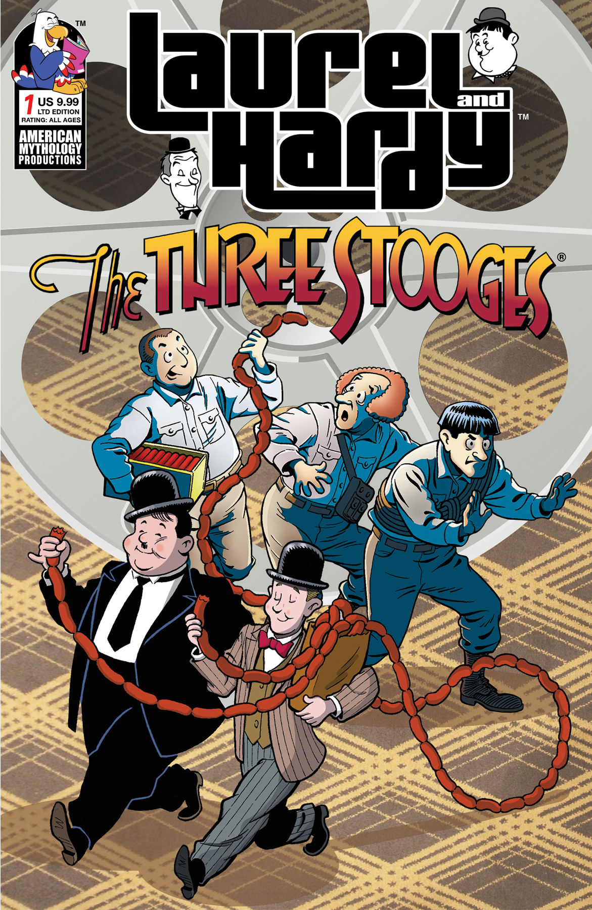 LAUREL & HARDY MEET THREE STOOGES #1 CVR C LTD CLASS CARTOON