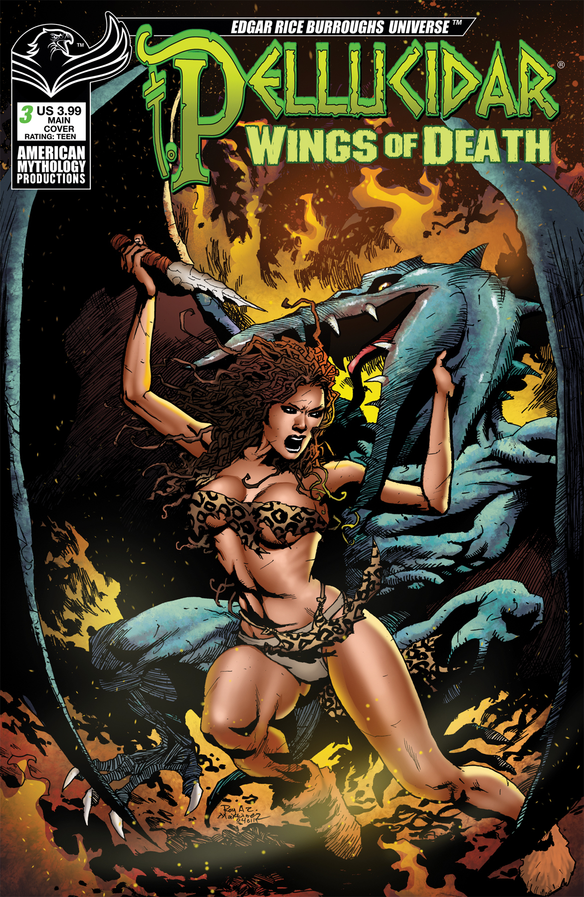PELLUCIDAR WINGS OF DEATH #3 CVR A MARTINEZ