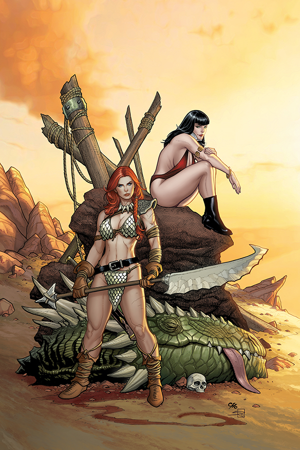 VAMPIRELLA RED SONJA #3 CHO & RICH VIRGIN CVR