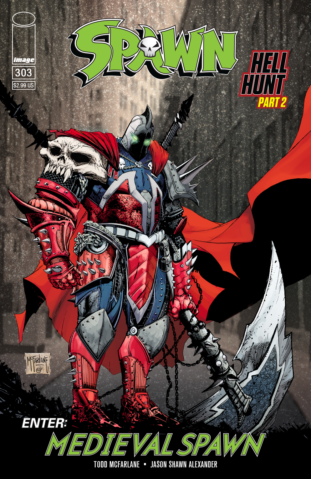 SPAWN #303 CVR B VIRGIN MATTINA