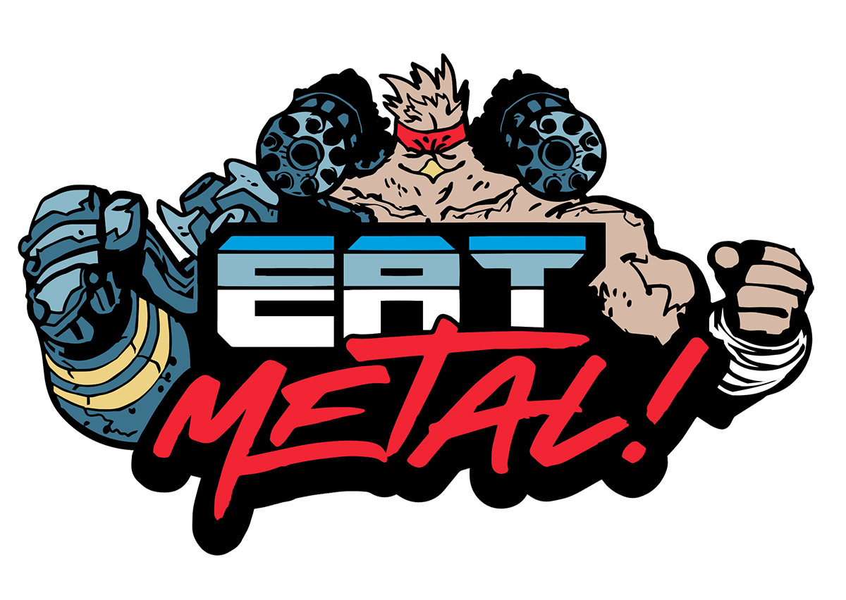 MURDER FALCON EAT METAL PIN