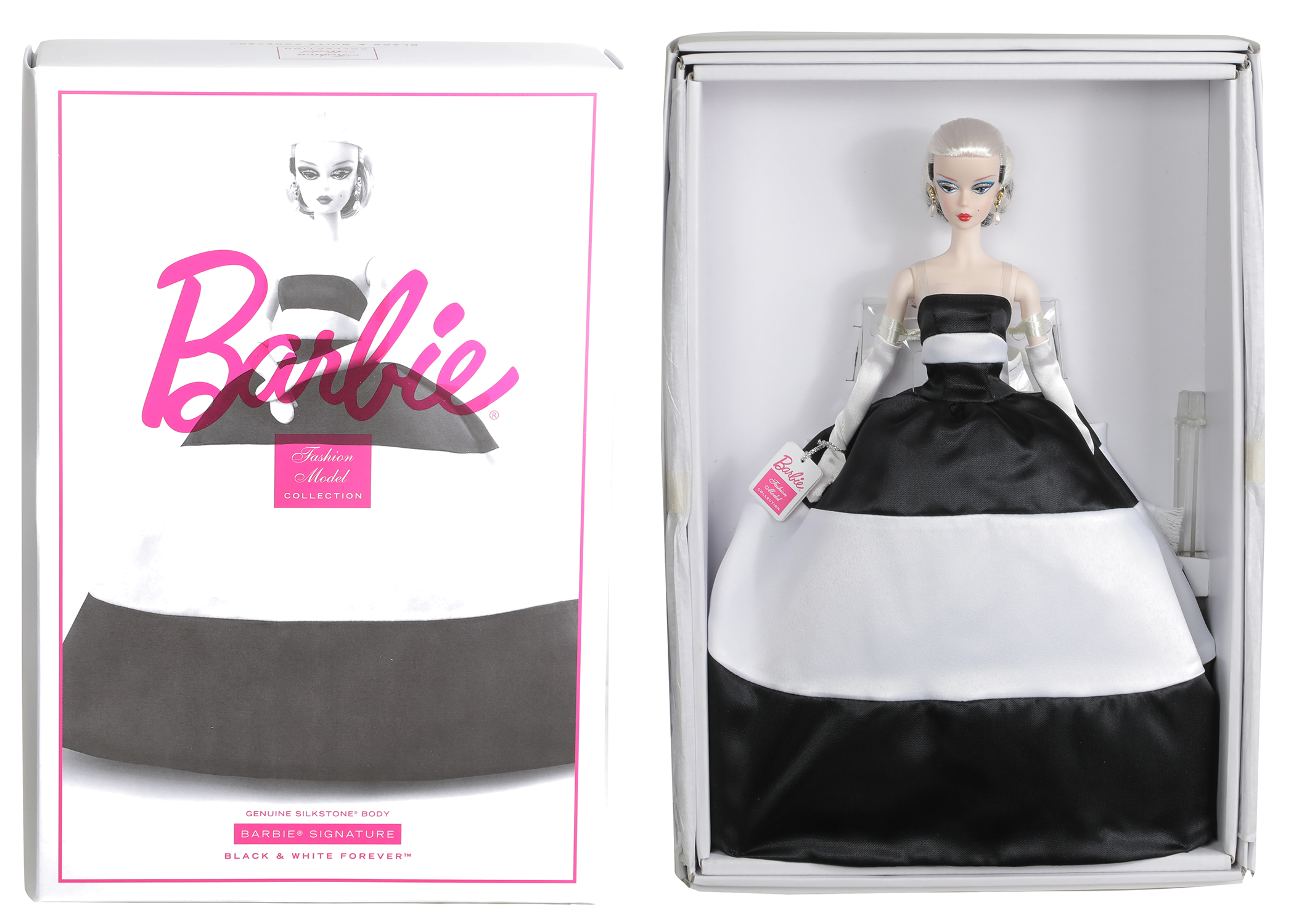 BARBIE BLACK & WHITE FOREVER DOLL CS