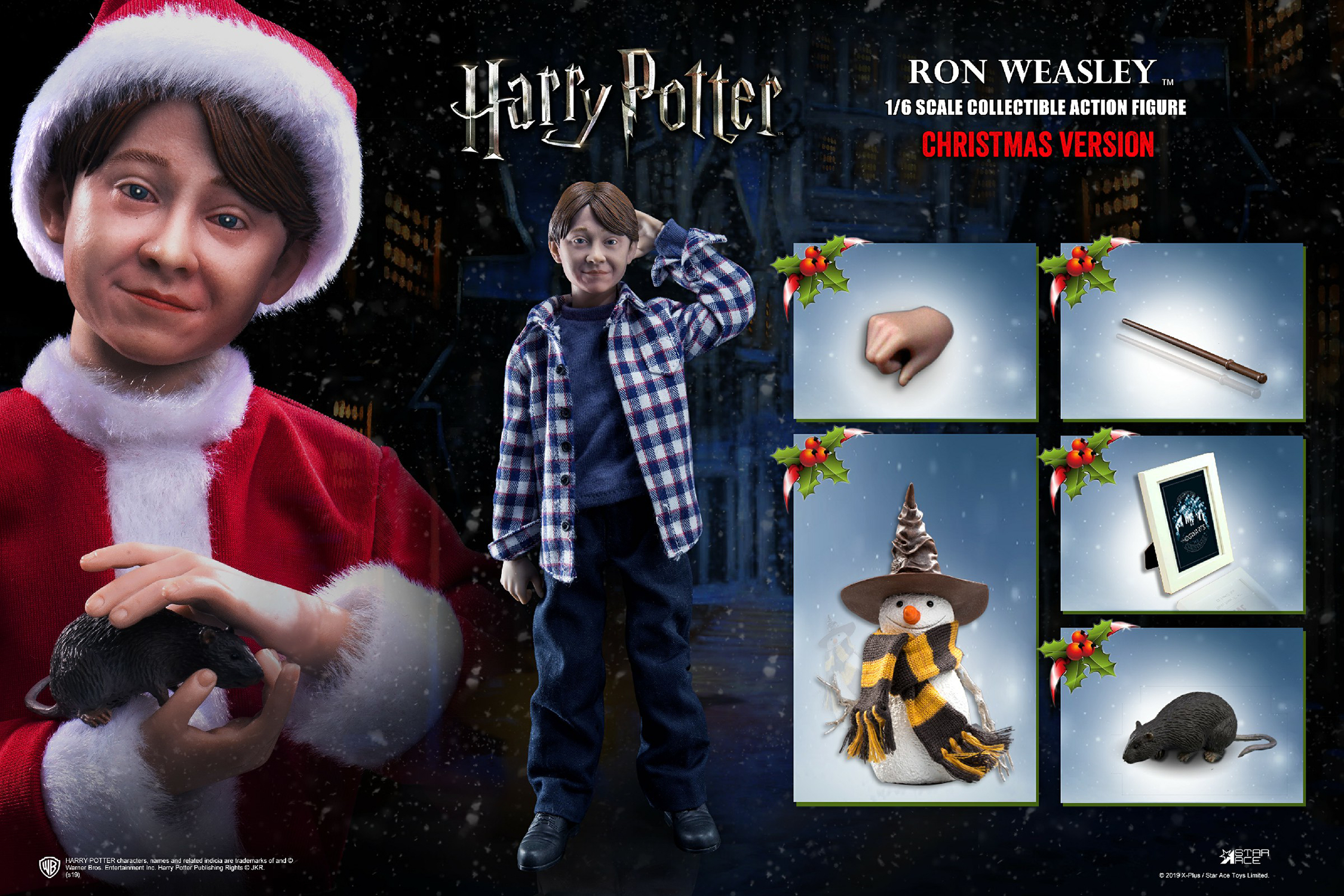 HP SORCERERS STONE RON WEASLEY 1/6 AF CHILD XMAS VER  (