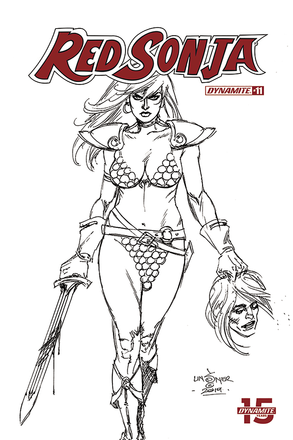 RED SONJA #11 30 COPY LINSNER B&W INCV