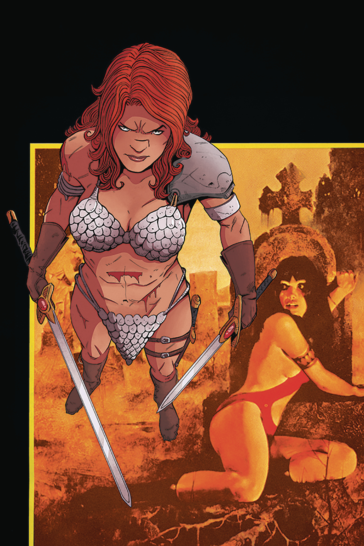 VAMPIRELLA RED SONJA #4 30 COPY MOSS VIRGIN INCV