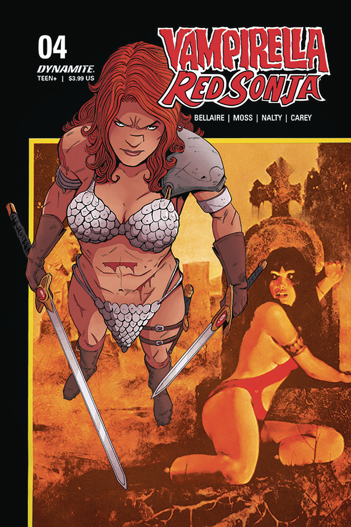 VAMPIRELLA RED SONJA #4 CVR E MOSS THEN NOW