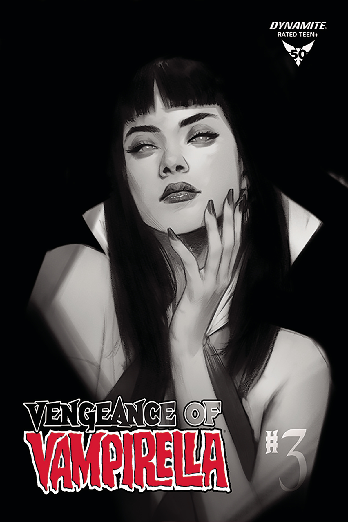 VENGEANCE OF VAMPIRELLA #3 30 COPY OLIVER B&W INCV