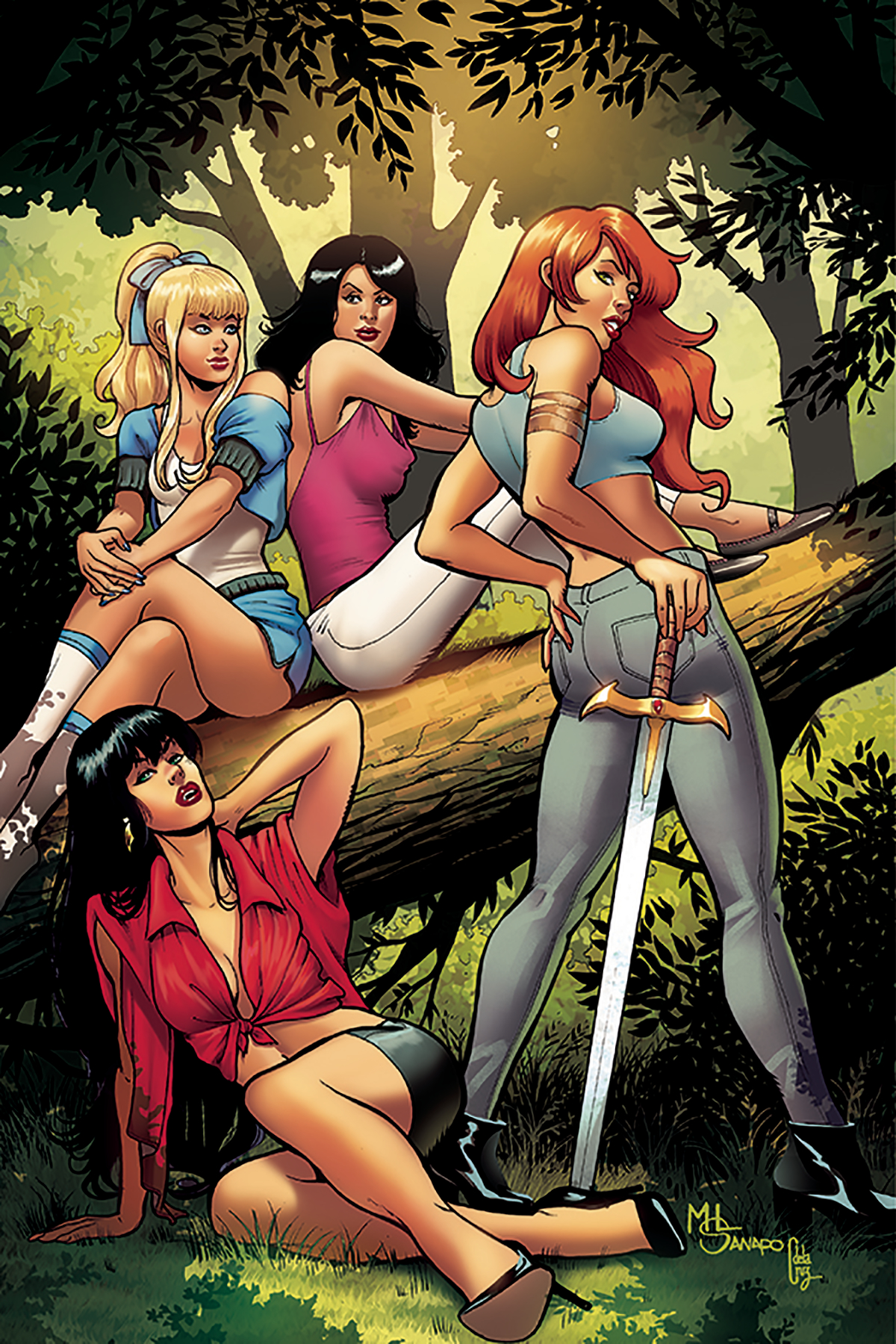 RED SONJA VAMPIRELLA BETTY VERONICA #7 30 COPY SANAPO VIRGIN