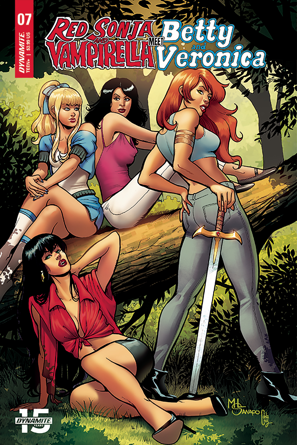 RED SONJA VAMPIRELLA BETTY VERONICA #7 CVR E SANAPO