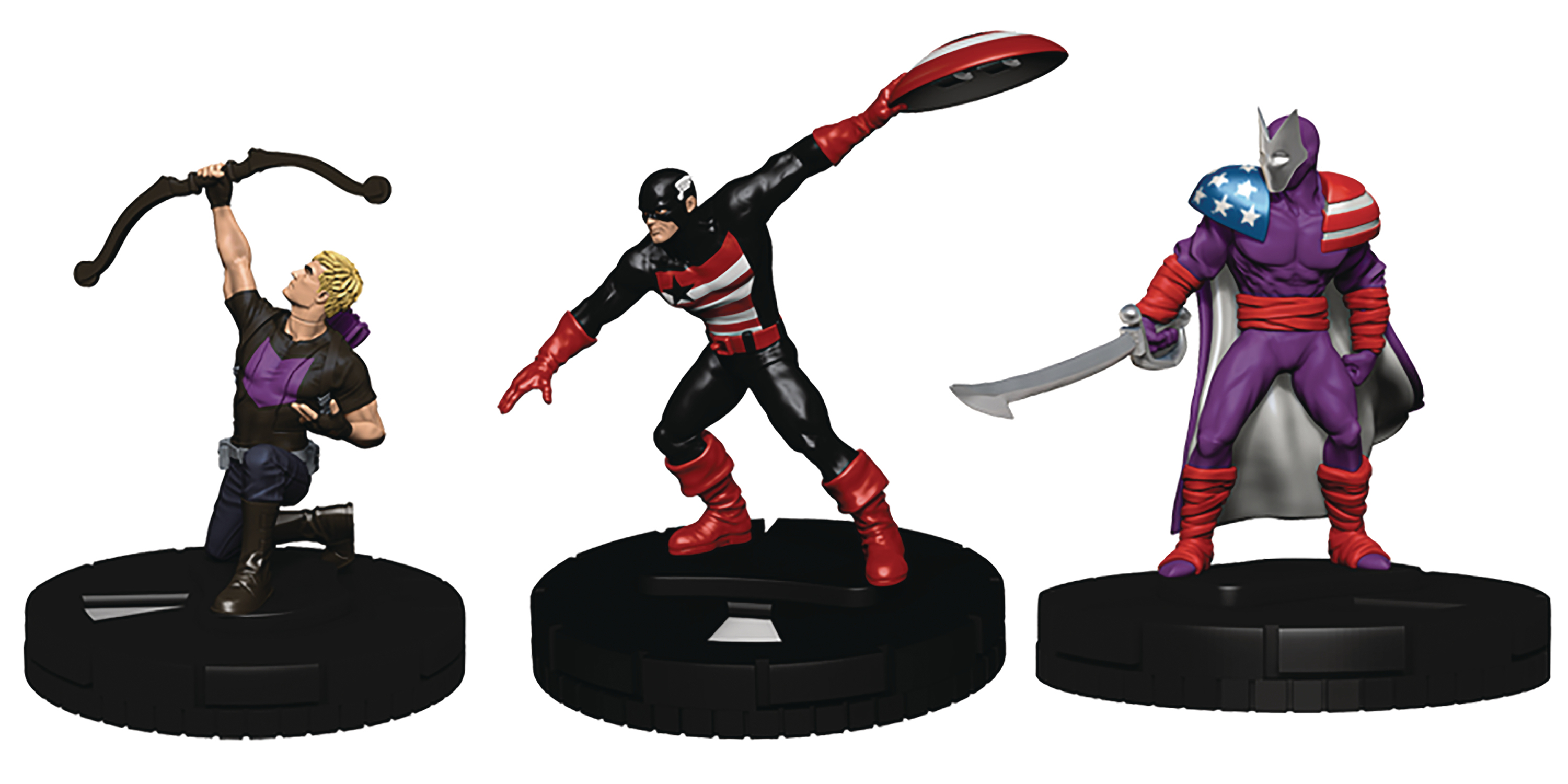 MARVEL HEROCLIX CAPTAIN AMERICA AVENGERS FAST FORCES 6PK