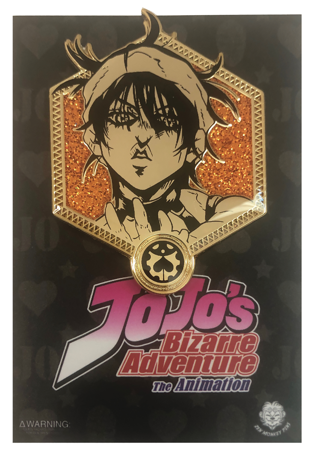 JOJOS BIZARRE ADVENTURE GOLD NARANCIA PIN