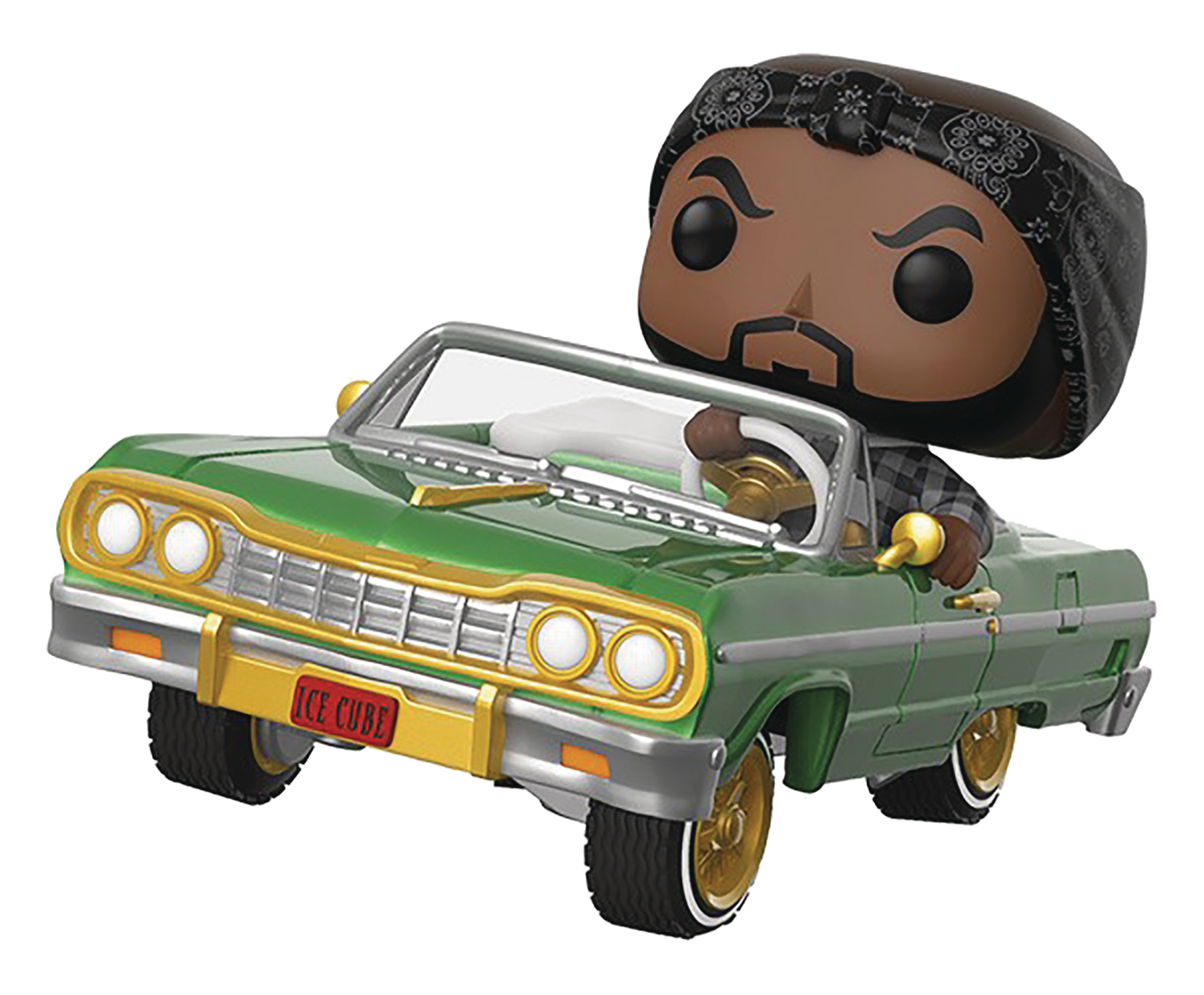 POP RIDES ICE CUBE IN IMPALA VIN FIG (AUG198777)