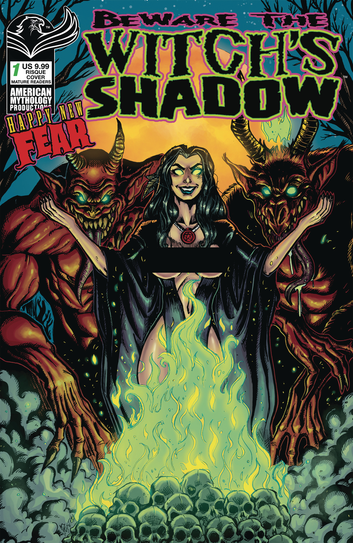 BEWARE WITCH`S SHADOW HAPPY NEW FEAR #1 CVR C CALZADA RISQUE