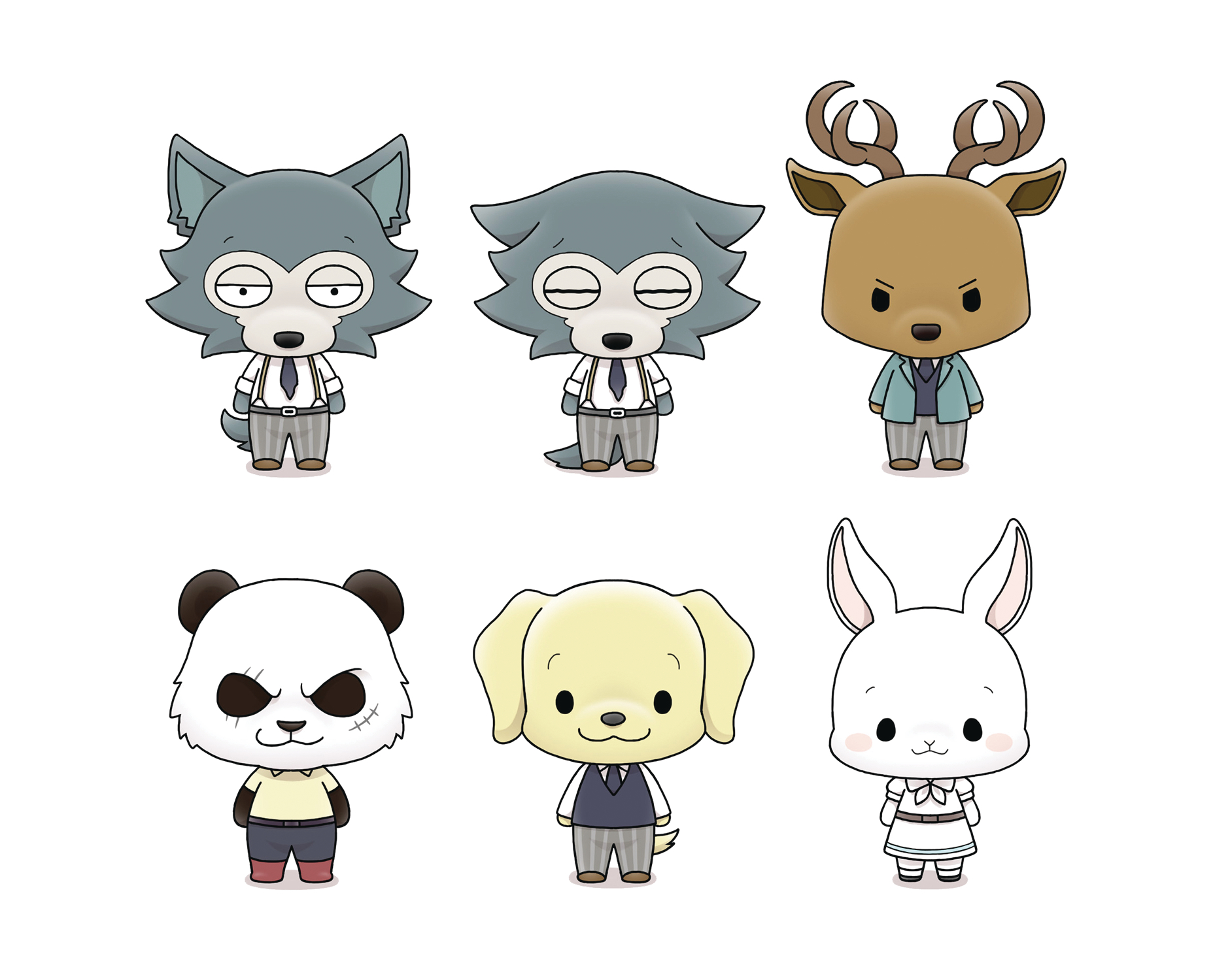 BEASTARS CHOKORIN MASCOT SERIES 6PC DS