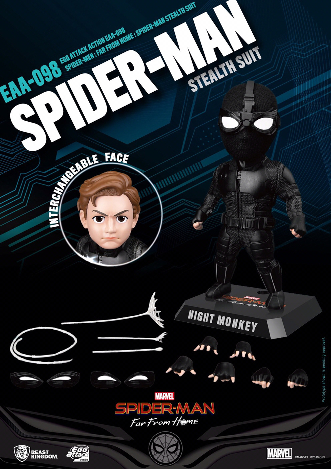 SPIDER-MAN FAR FROM HOME EAA-098 SPIDER-MAN STEALTH PX AF (S