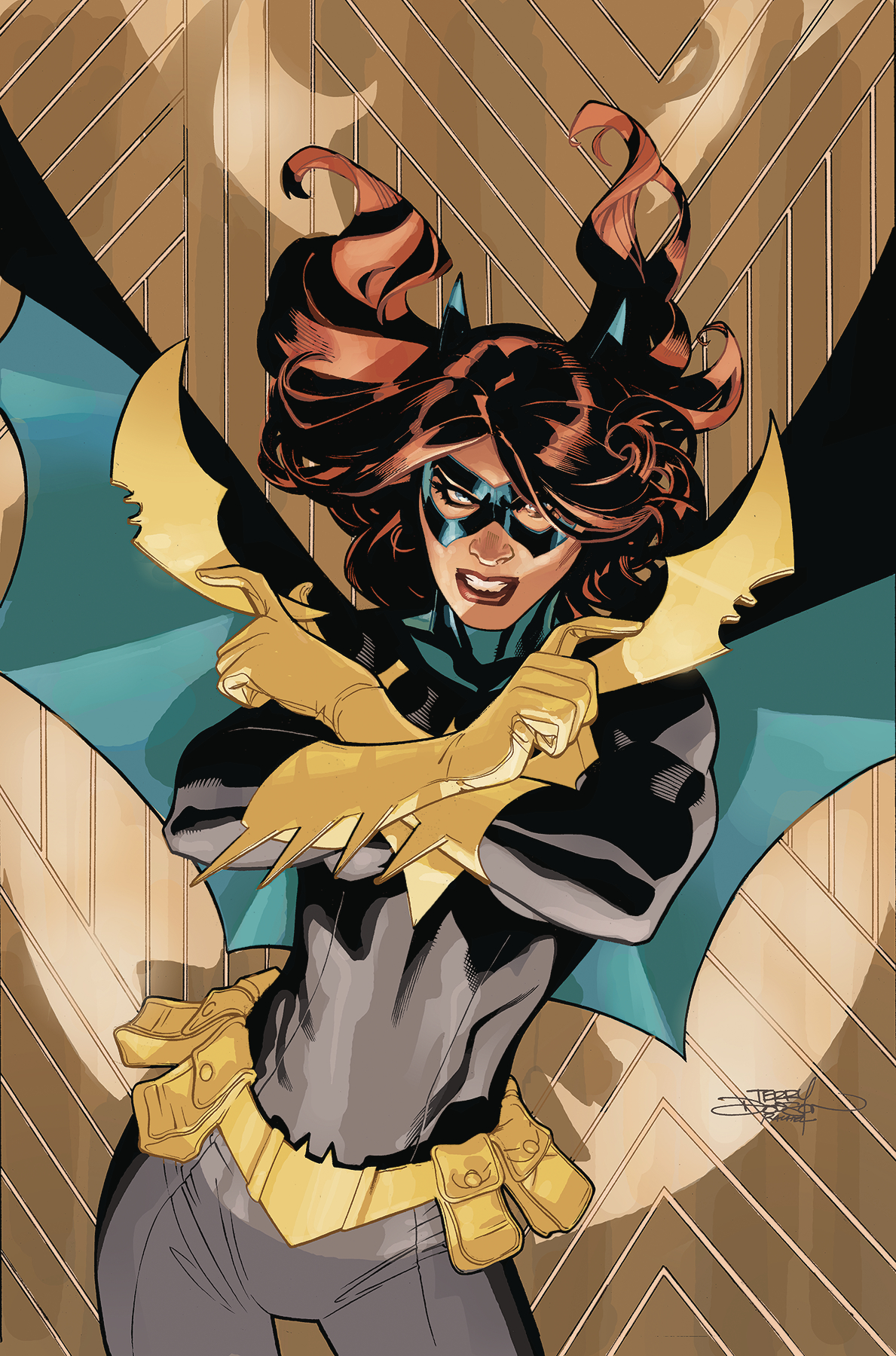 BATGIRL #44 CARD STOCK T AND R DODSON VAR ED