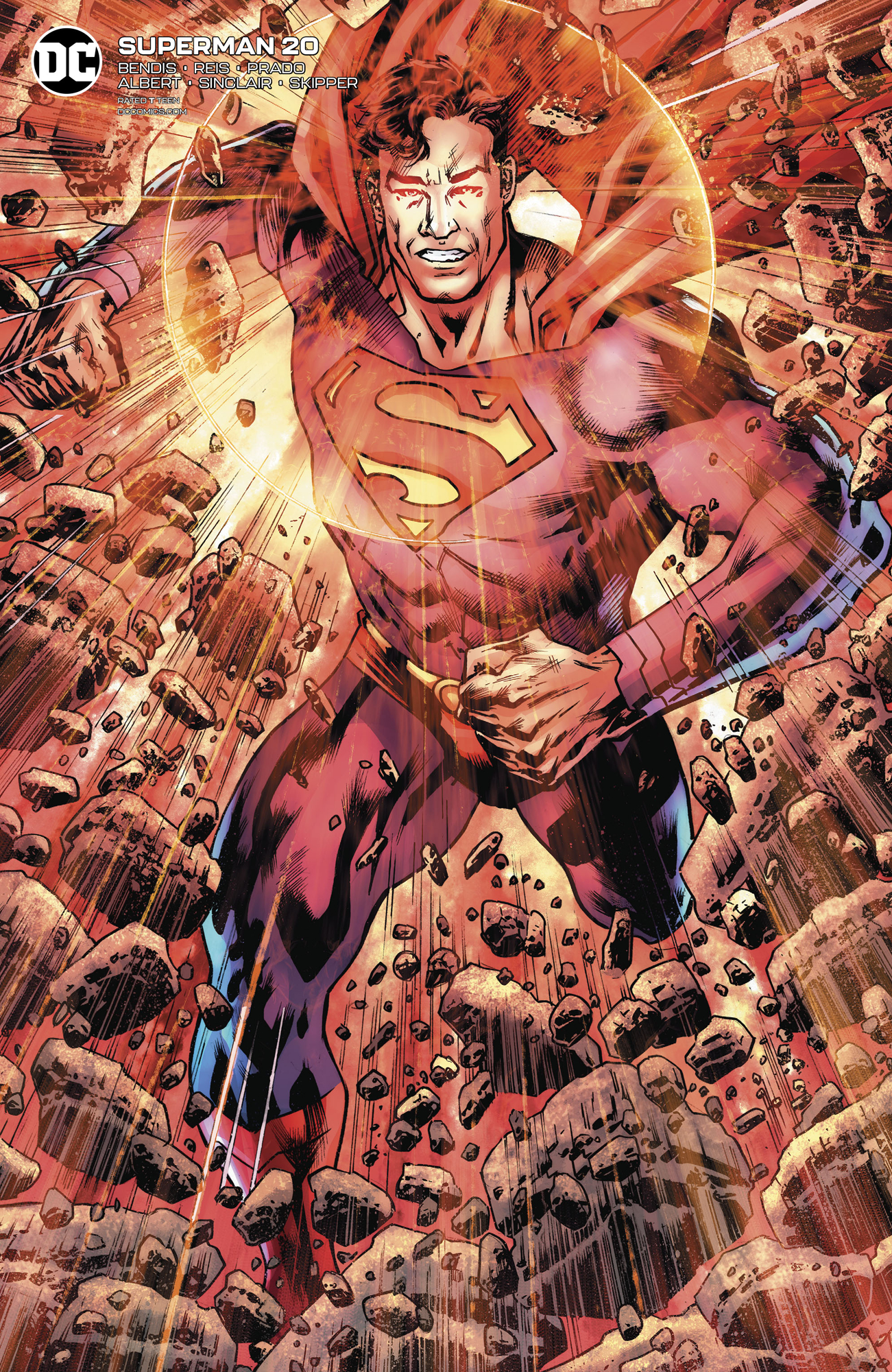 SUPERMAN #20 CARD STOCK BRYAN HITCH VAR ED