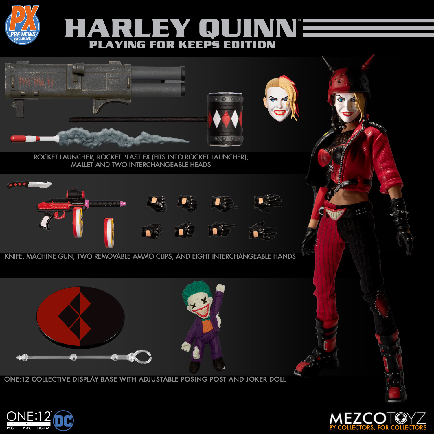 ONE-12 COLLECTIVE DC HARLEY QUINN PLAYING FOR KEEPS ED PX AF
