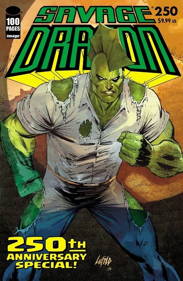SAVAGE DRAGON #250 CVR C LIEFELD (MR)