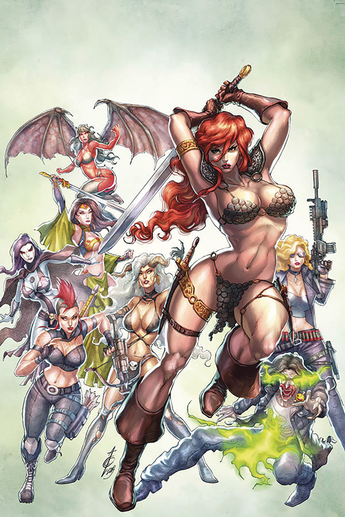 RED SONJA AGE OF CHAOS #2 QUAH LTD VIRGIN CVR