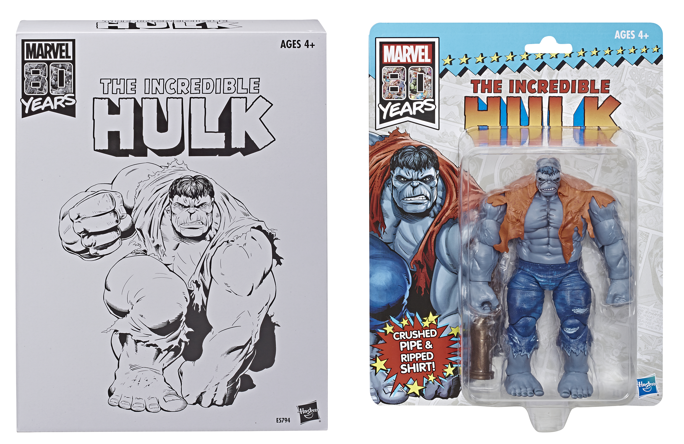 MARVEL VINTAGE 80TH ANN GREY HULK 6IN AF CS