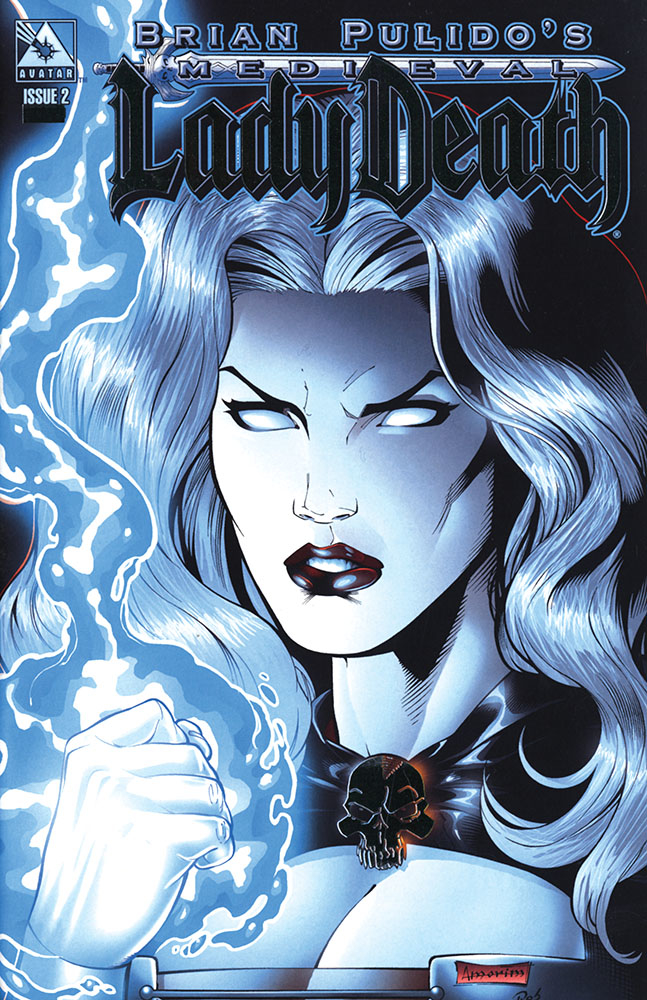 MEDIEVAL LADY DEATH #2 PLATINUM FOIL VAR (MR)