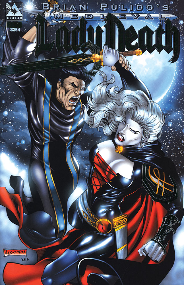 MEDIEVAL LADY DEATH #4 PLATINUM FOIL VAR (MR)