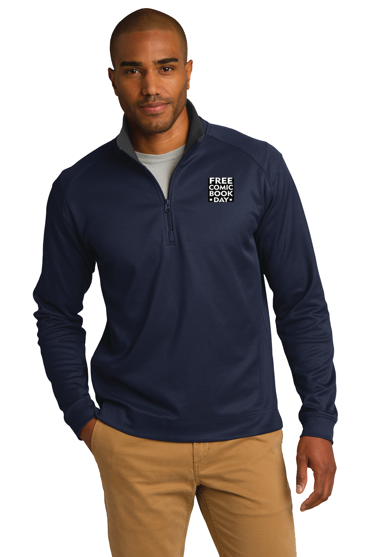 FCBD 1/4 ZIP PULLOVER NAVY XL