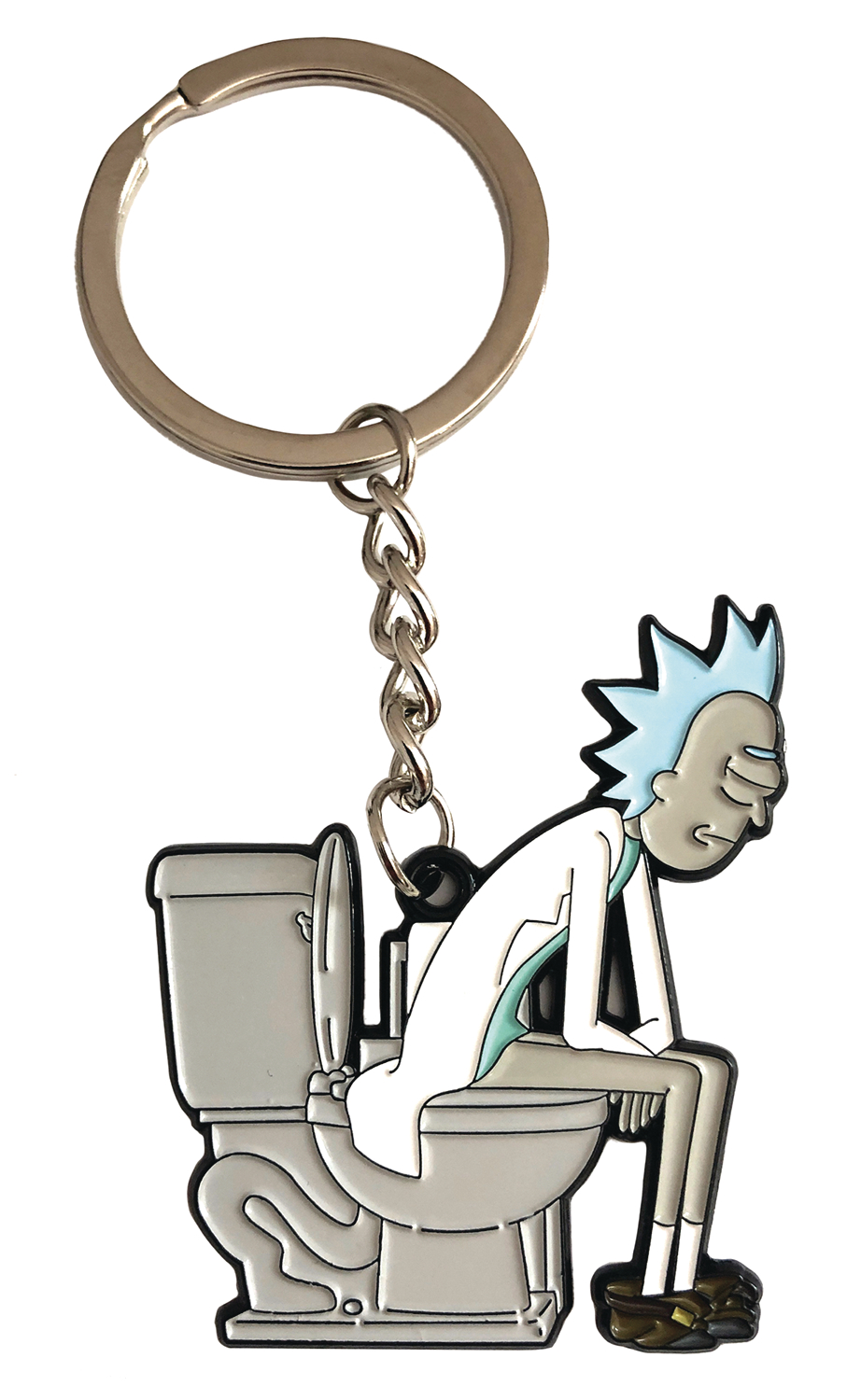 RICK AND MORTY RICK ON THRONE KEYCHAIN