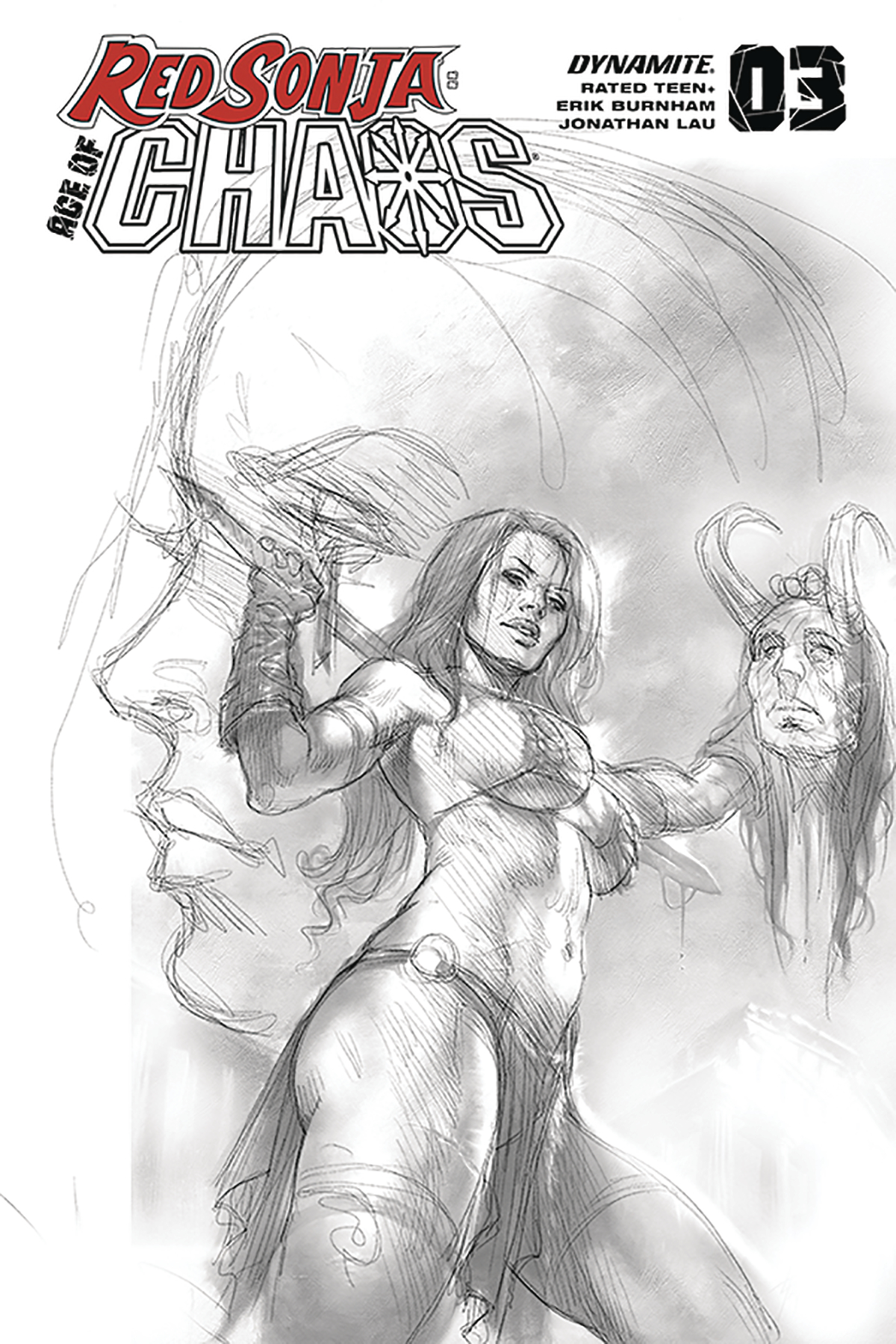 RED SONJA AGE OF CHAOS #3 25 COPY PARRILLO SKETCH INCV