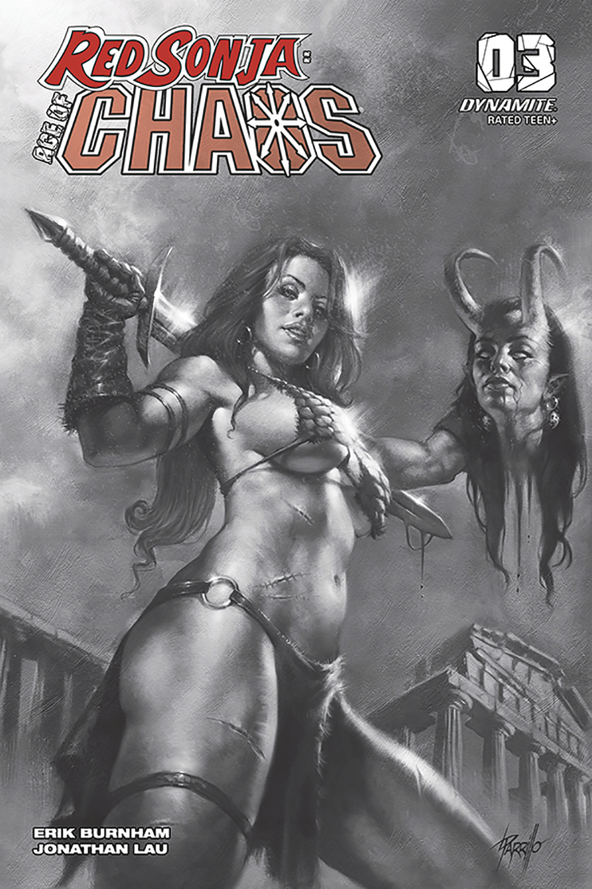 RED SONJA AGE OF CHAOS #3 40 COPY PARRILLO B&W INCV