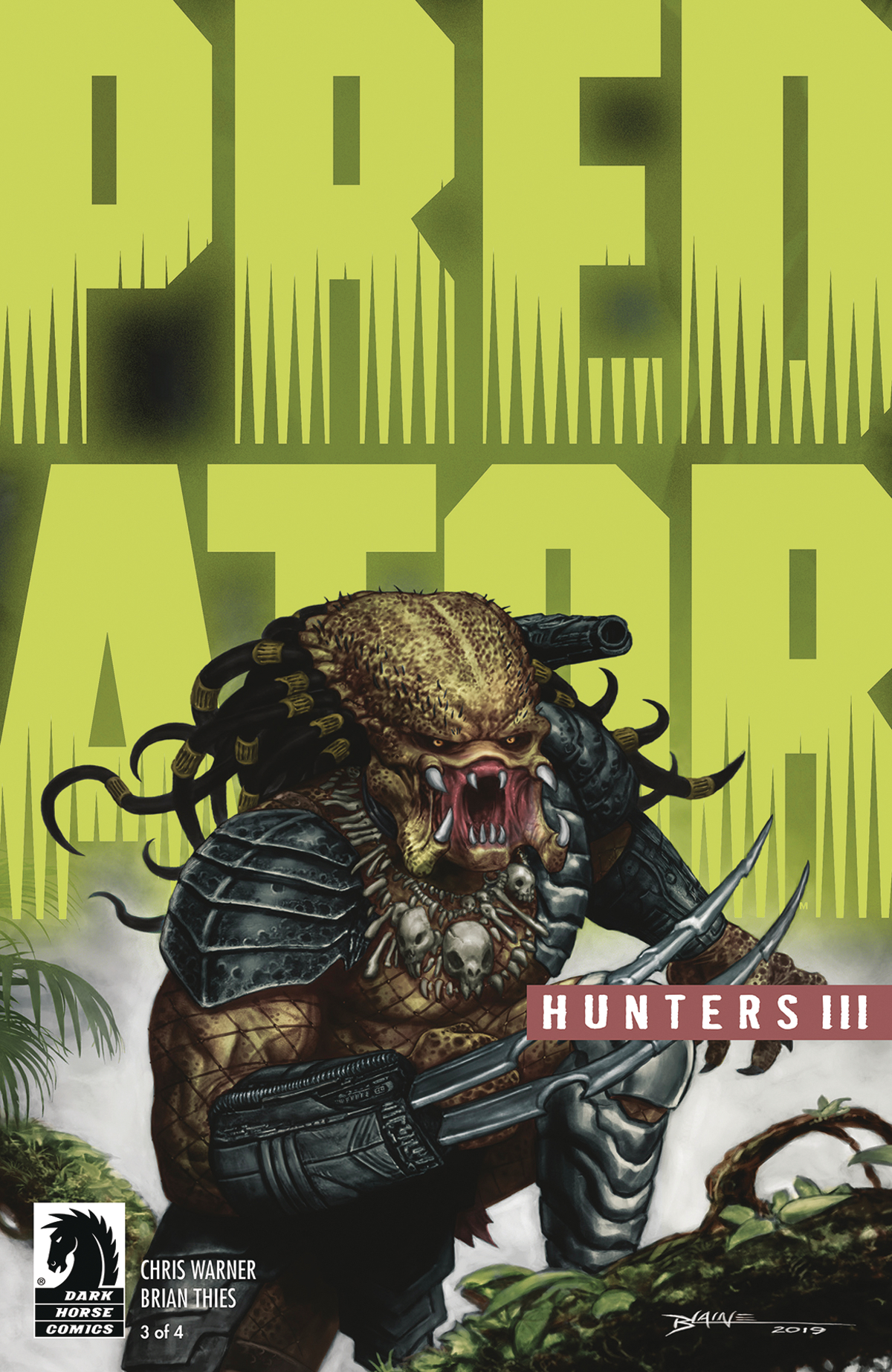 PREDATOR HUNTERS III #3 (OF 4) CVR B BLAINE GLOW DARK INK