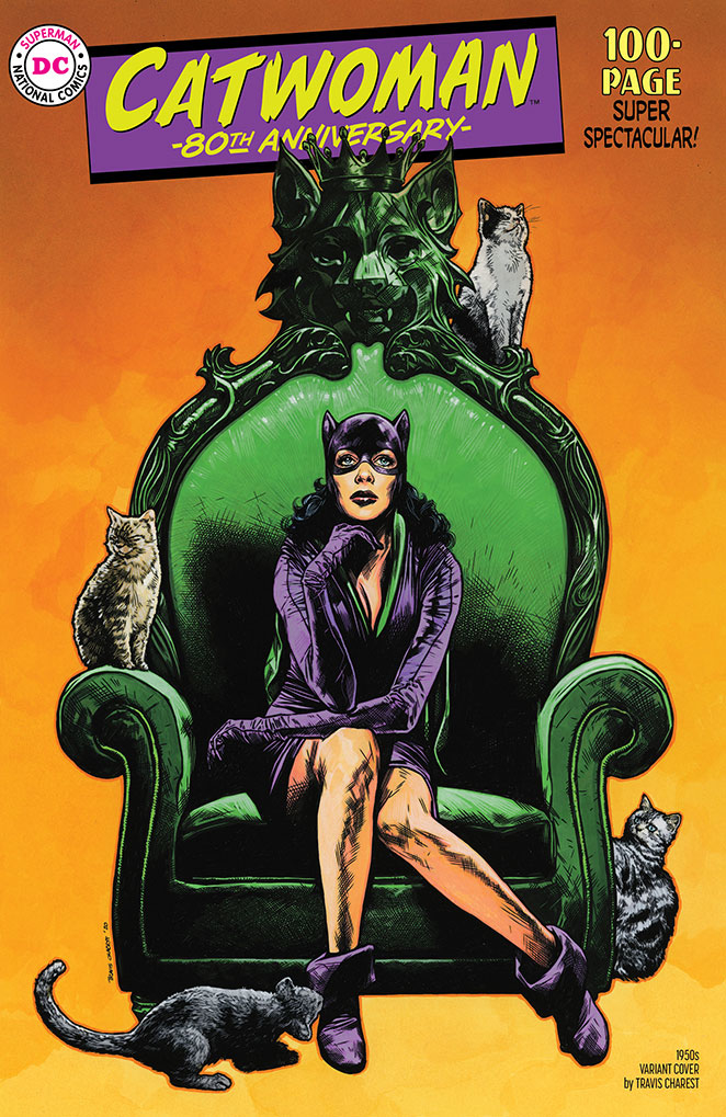 CATWOMAN 80TH ANNIV 100 PAGE SUPER SPECT #1 1950S TRAVIS CHA