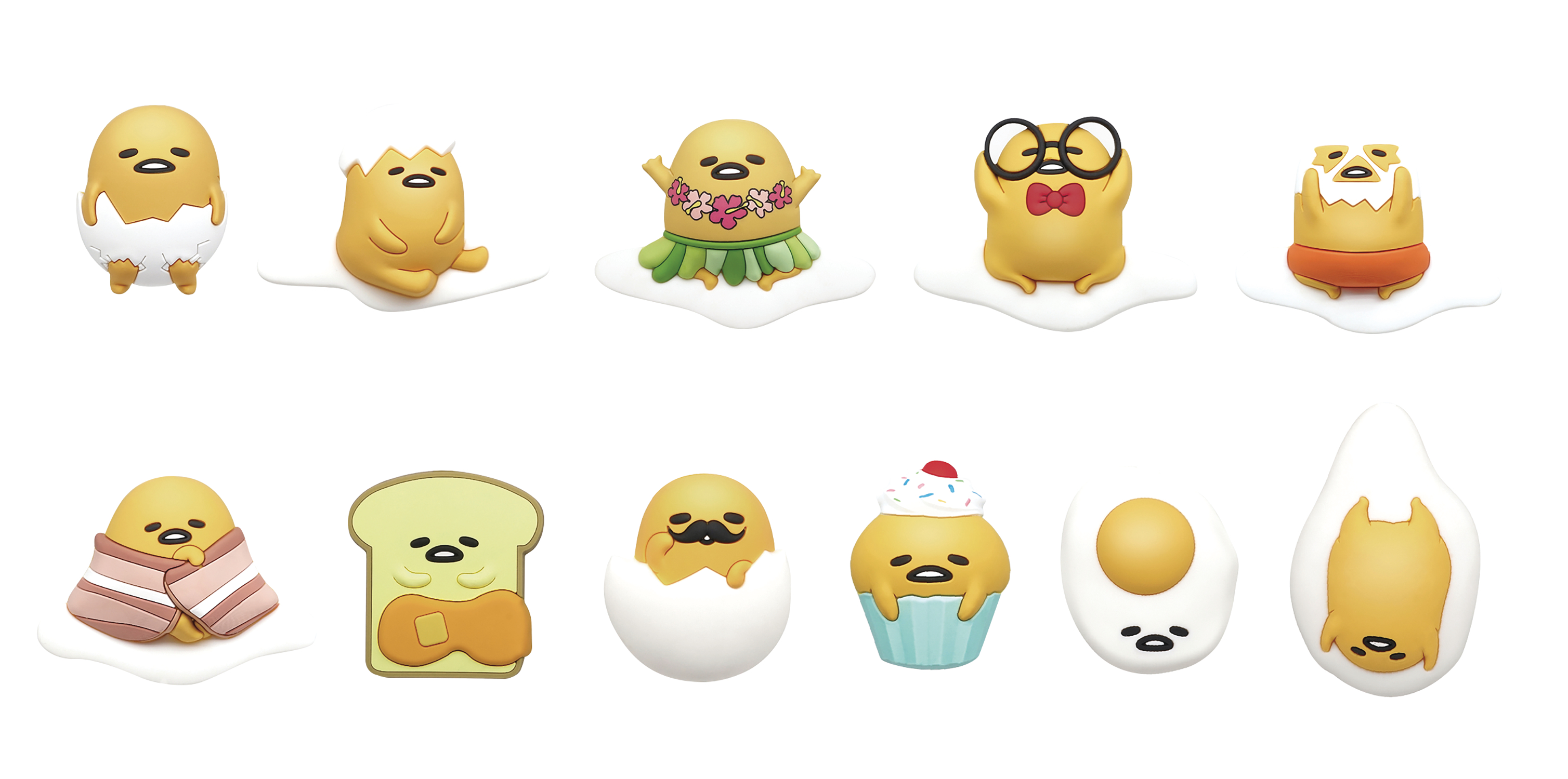 SANRIO GUDETAMA 3D FOAM BAG CLIP 24PCS BMB DS
