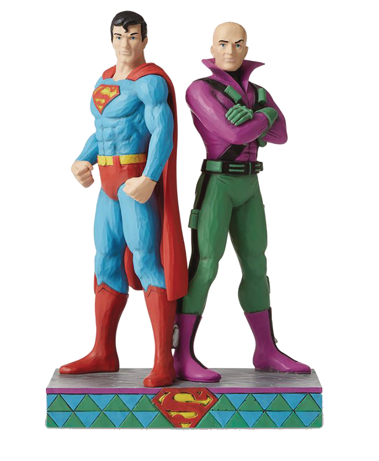 JIM SHORE DC COMICS SUPERMAN & LEX LUTHOR 8.88IN FIGURINE (C