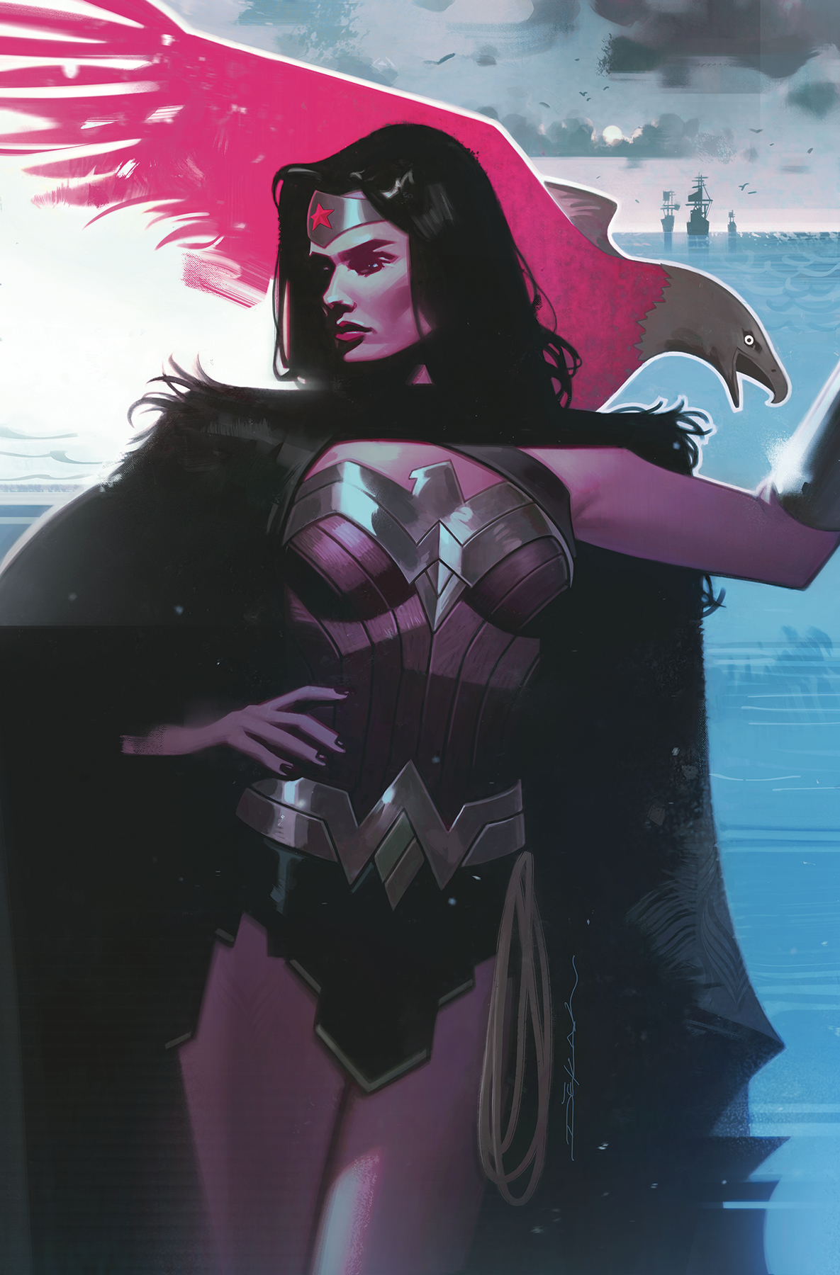 WONDER WOMAN #758 CARD STOCK JEFF DEKAL VAR ED