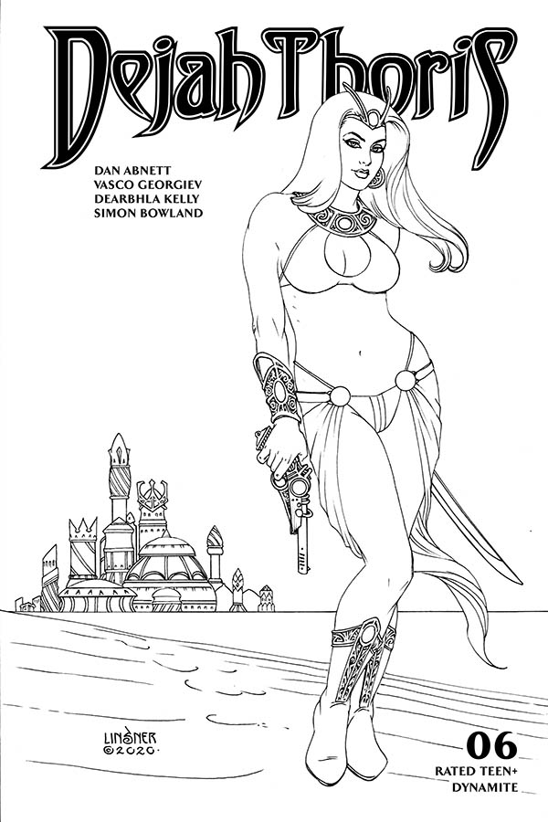 DEJAH THORIS (2019) #6 20 COPY LINSNER B&W INCV